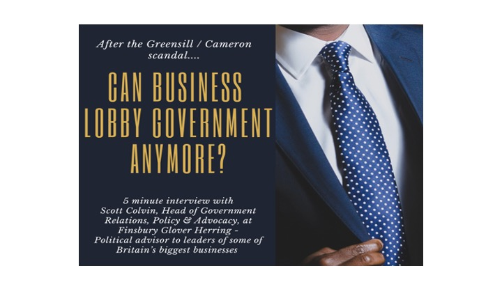 Scott Colvin on business lobbying, interview